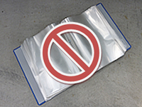 クリアファイル類は混入禁止